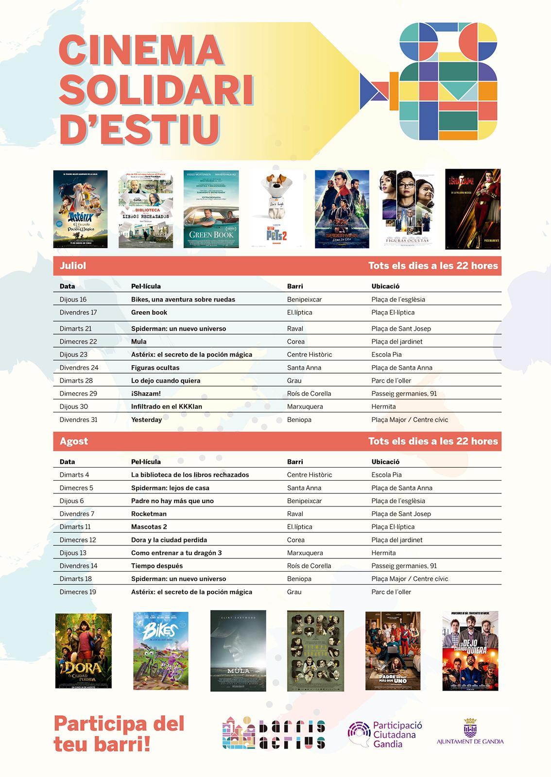 Cinema als barris Cultura Gandia
