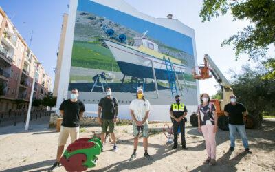 Gandia presenta l'últim mural del Serpis Urban Art Project del prestigiós artista grec Dimitris Taxis